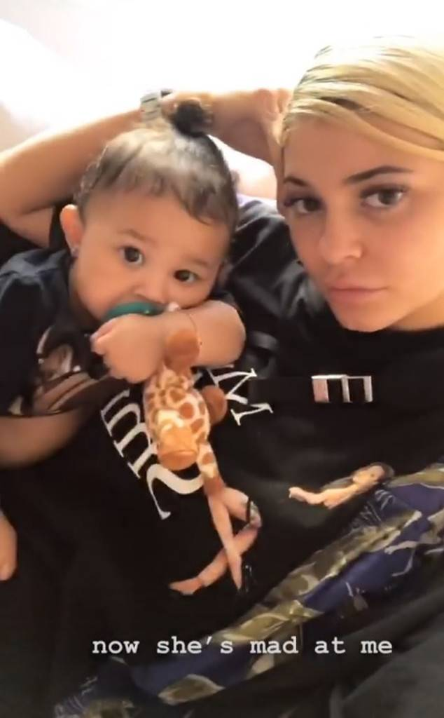 Kylie Jenner Woke Up Stormi Webster From a Nap and She Isn't Happy About It