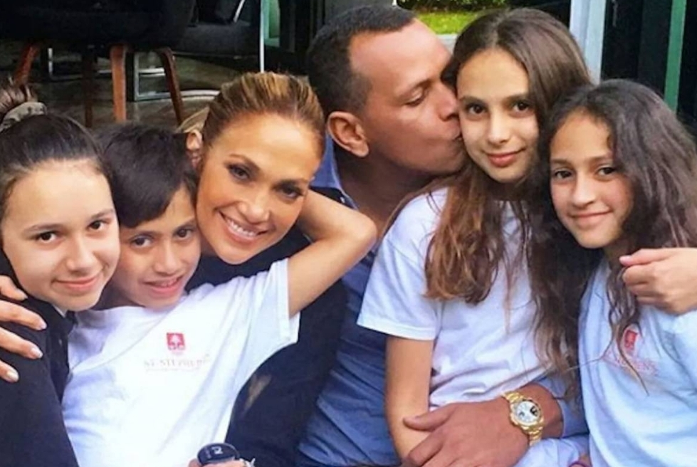 The Alex Rodriguez and Jennifer Lopez Family