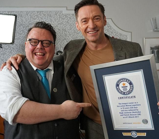 Hugh Jackman Officially Enters The Guinness Book of Records