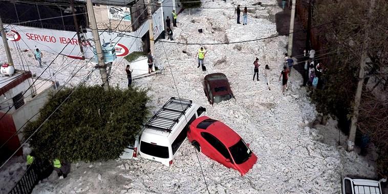 What explains the freak hailstorm in Mexico?
