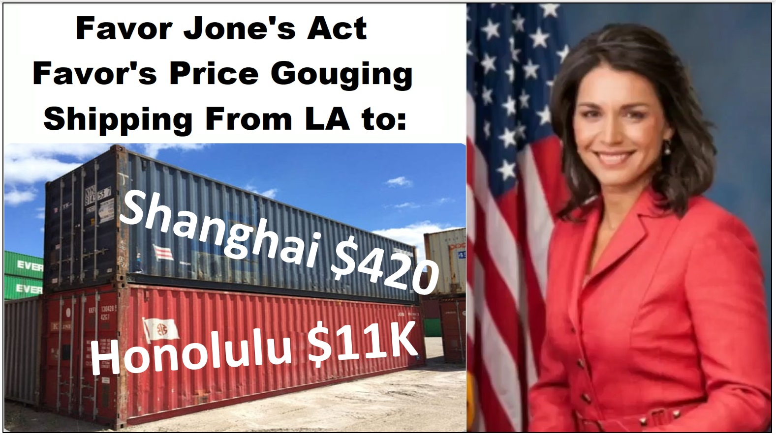 Presidential Candidate Tulsi Gabbard in with the Jones Act – Controversial