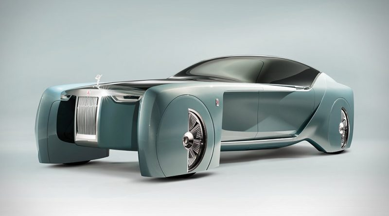 Futuristic Rolls-Royce car steals the show in London