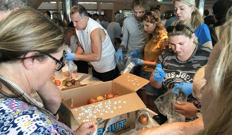 Celebrity cruise ship with its 3,000 crew members join to bring food to those affected in The Bahamas