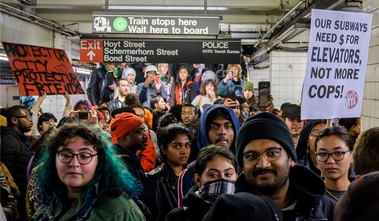 Protesters: Make subways free and accessible