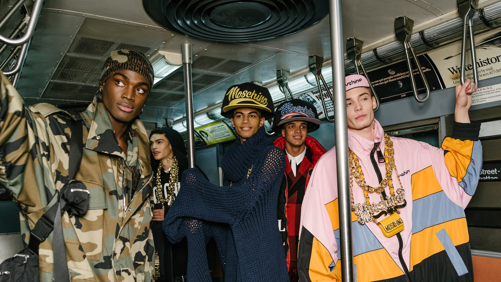Moschino takes the NYC Subway (Pre-Fall 2020) show