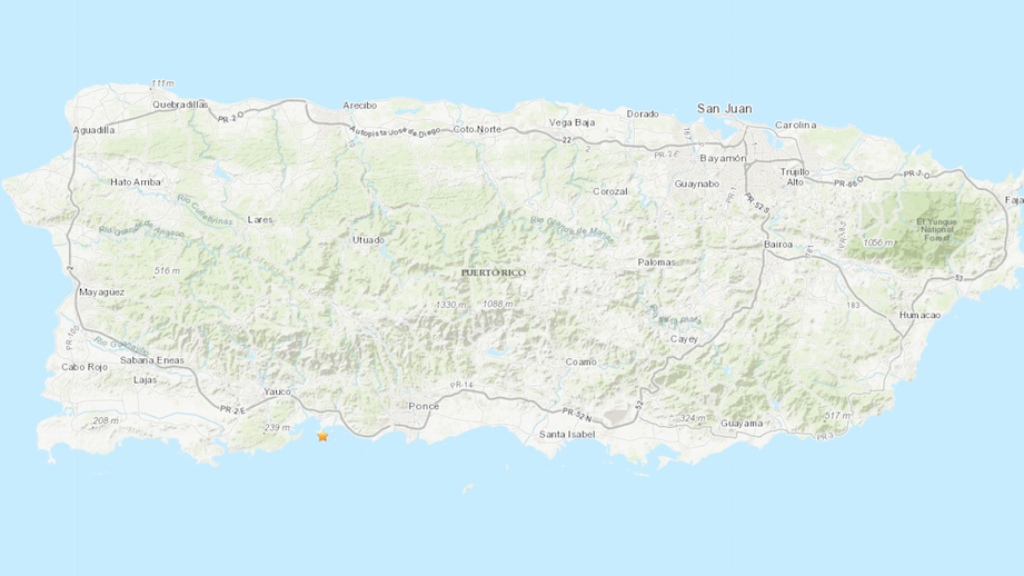 Three earthquakes of magnitude 4.5 or greater shook Puerto Rico during the early hours of Monday