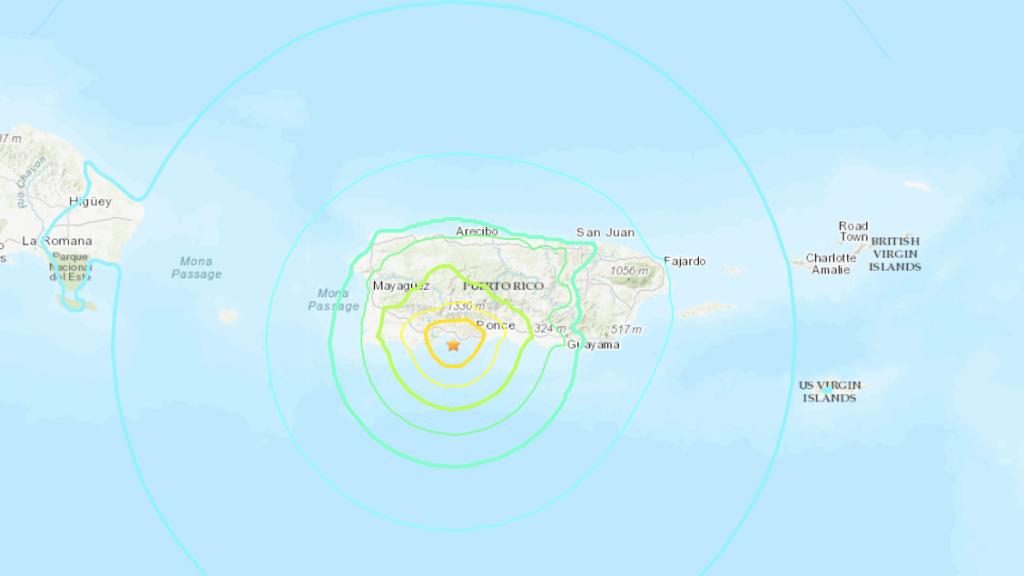 6.0 magnitude earthquake in Puerto Rico