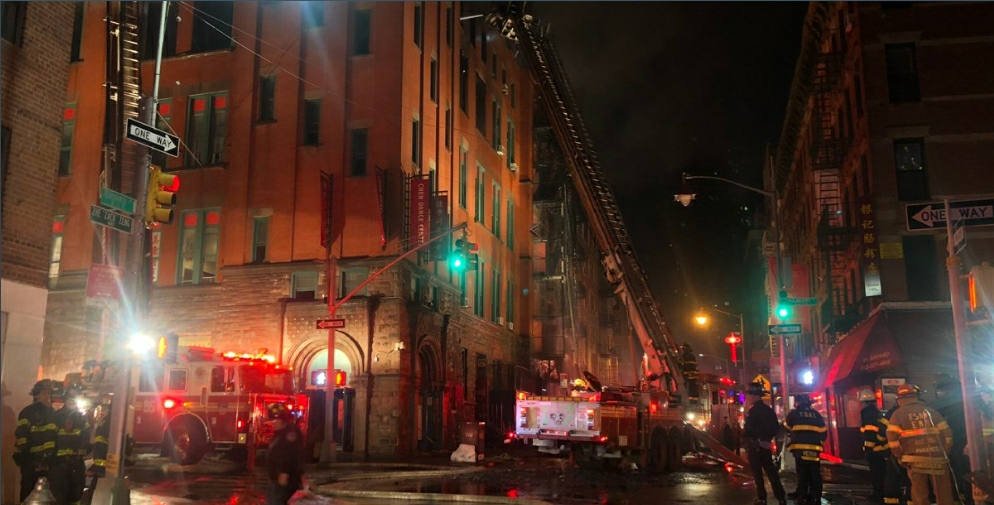Chinatown Fire in New York City