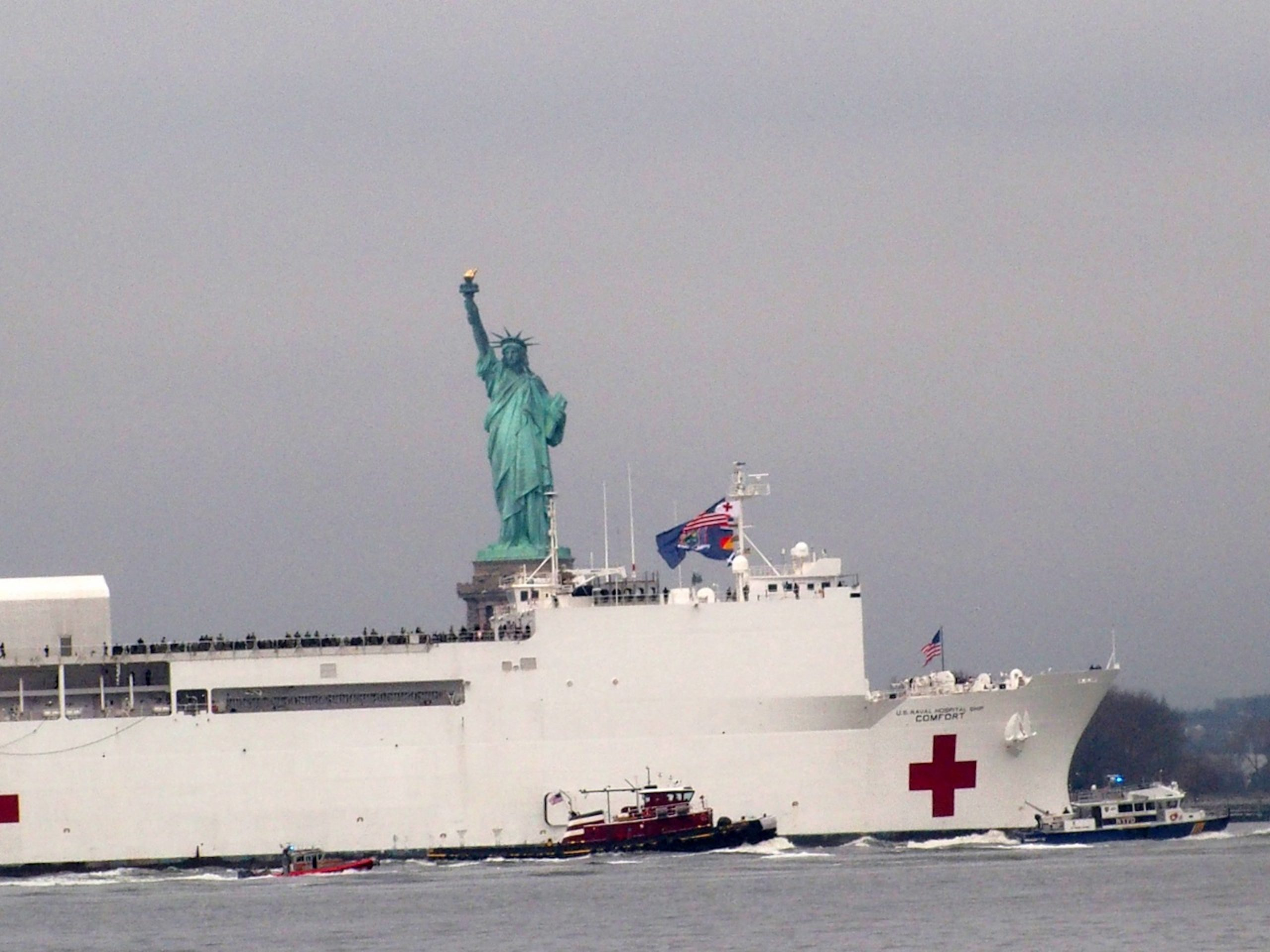 The USNS Comfort has arrived to NYC
