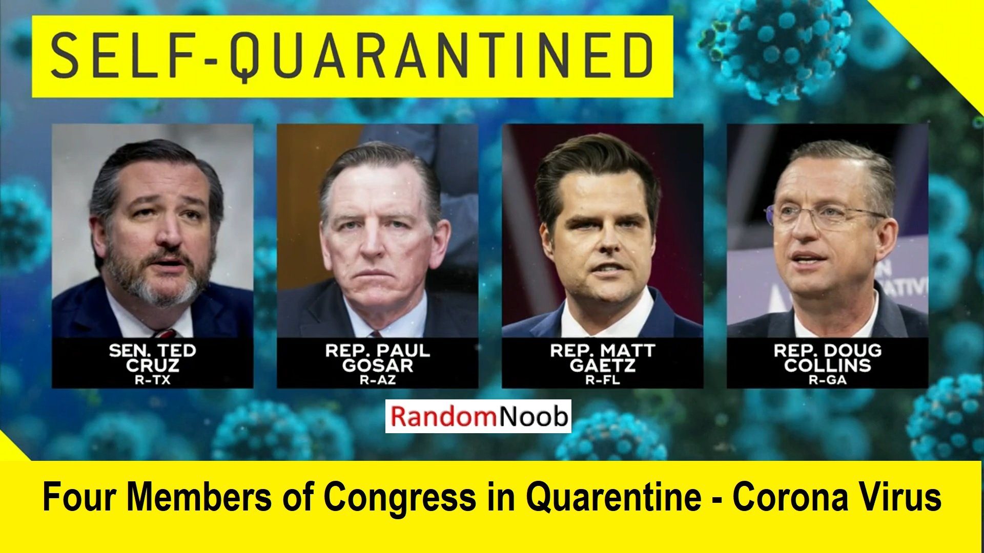 Congress Members Quarantine due to Coronavirus COVID-19
