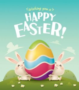 Happy Easter Egg and Bunnies - vivomix