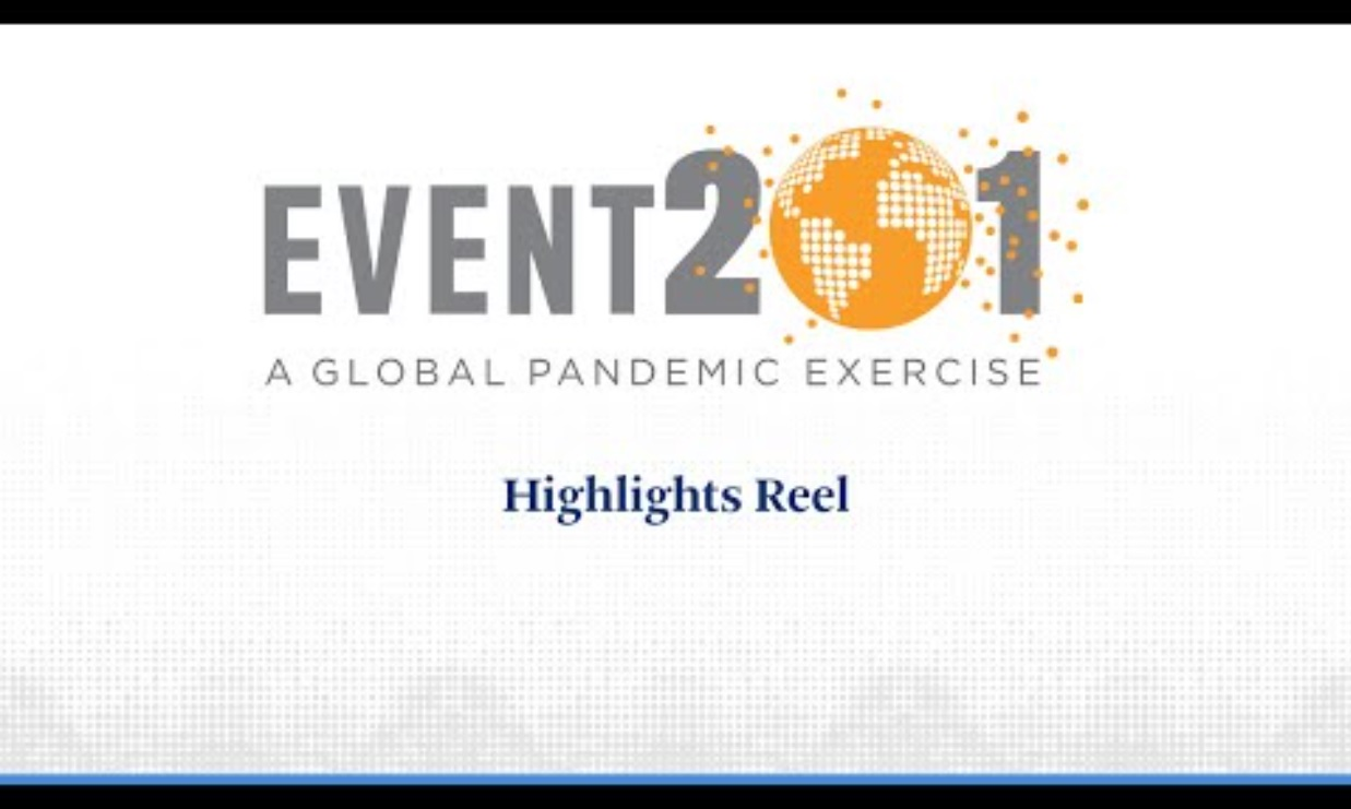 Event 201 Global Pandemic Drill Coronavirus by The Bill and Melinda Gates Foundation