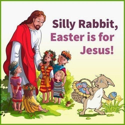 Jesús y el conejito de Pascua - vivomix