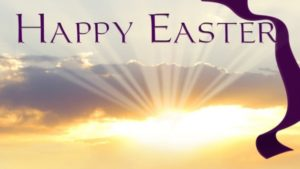 Happy Easter and Cross with the bright sun - vivomix