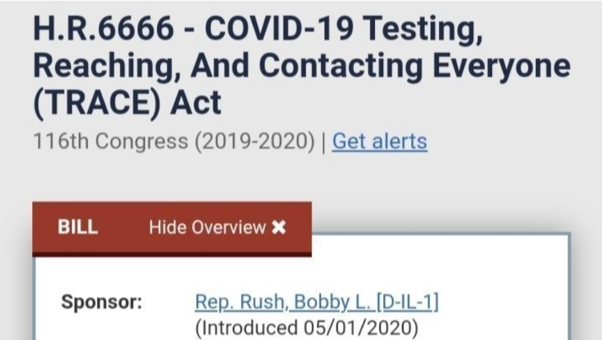 HR 6666 – COVID-19 Testing, Reaching, And Contacting Everyone (TRACE) Act