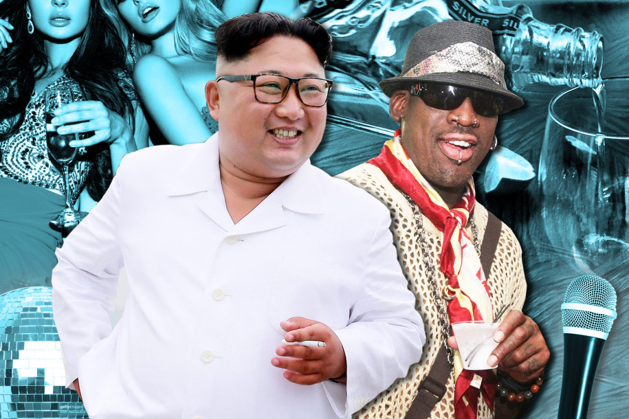 Dennis Rodman describes wild night of 'hotties and vodka' with Kim Jong Un