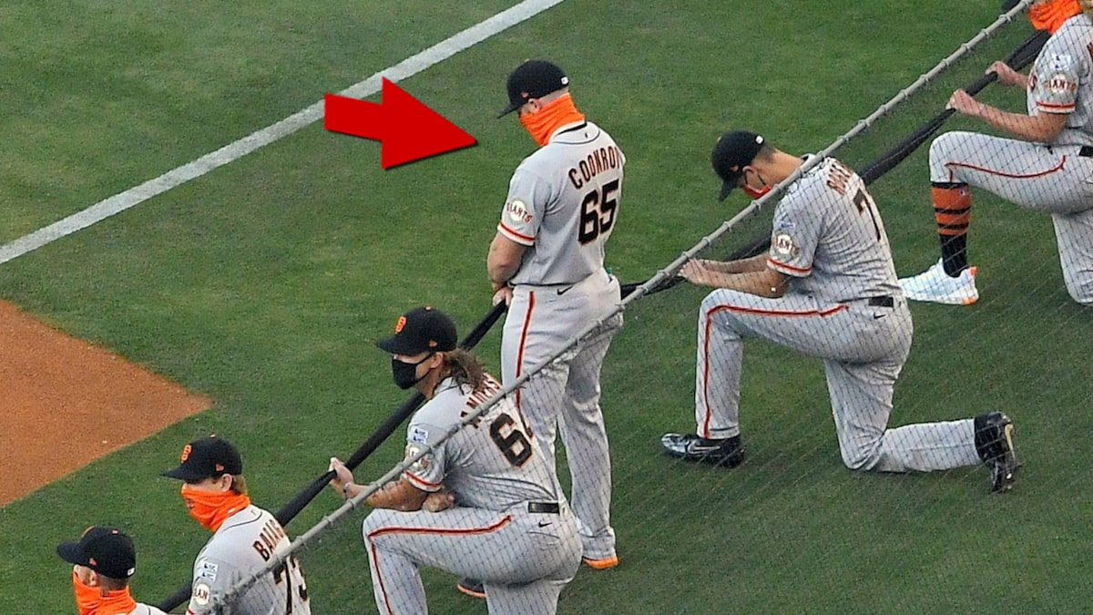 SF GIANTS' SAM COONROD REFUSES TO KNEEL FOR BLM MOMENT … 'I'm A Christian'