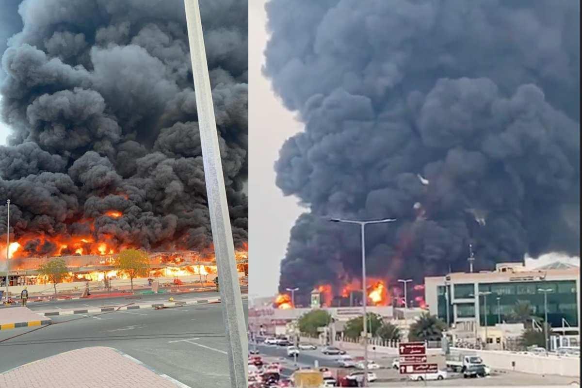 UAE: Massive fire breaks out in Ajman market [WATCH]