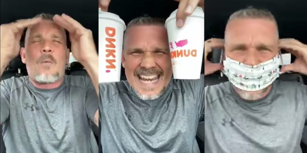 Pastor THREATENS Dunkin' Employee Over Mask