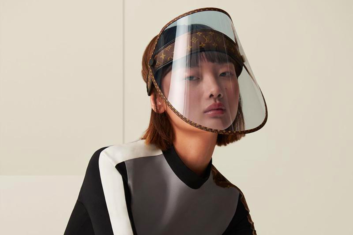 Louis Vuitton designed a luxury face shield for nearly 1K