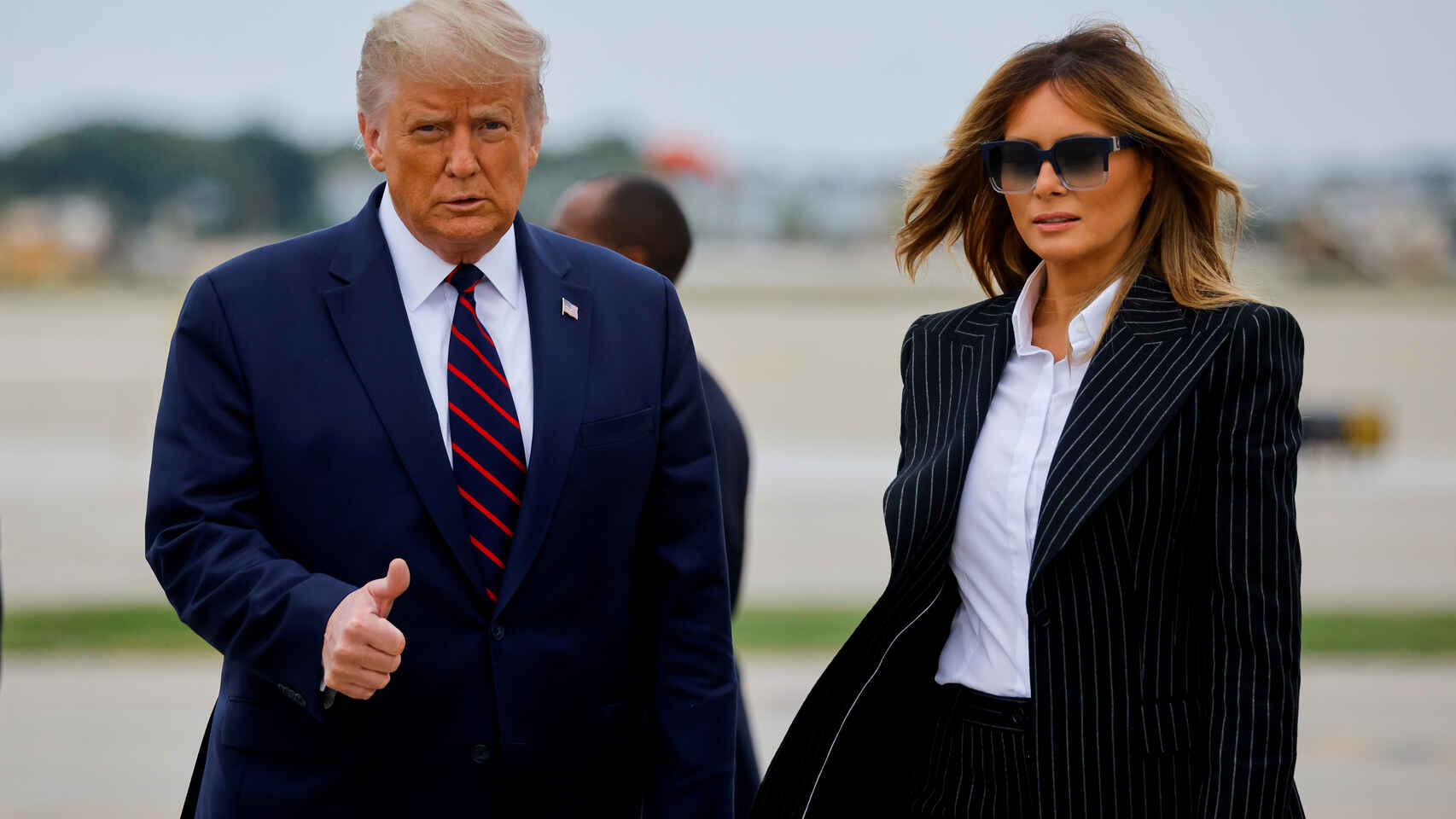 President Donald Trump tweets he and first lady Melania Trump test positive for Covid-19