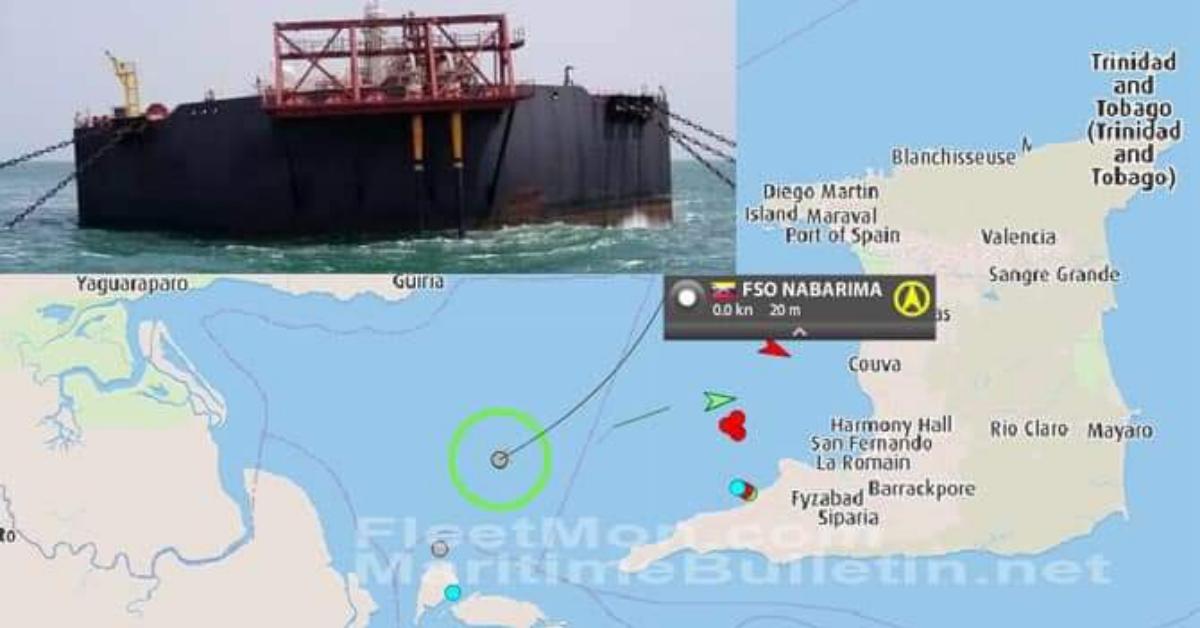 Venezuelan oil tanker sinks near Trinidad and Tobago