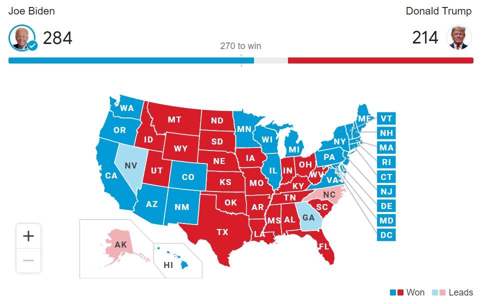 Election 2020 Live Updates: Joseph R. Biden Jr. Has Won the Presidency