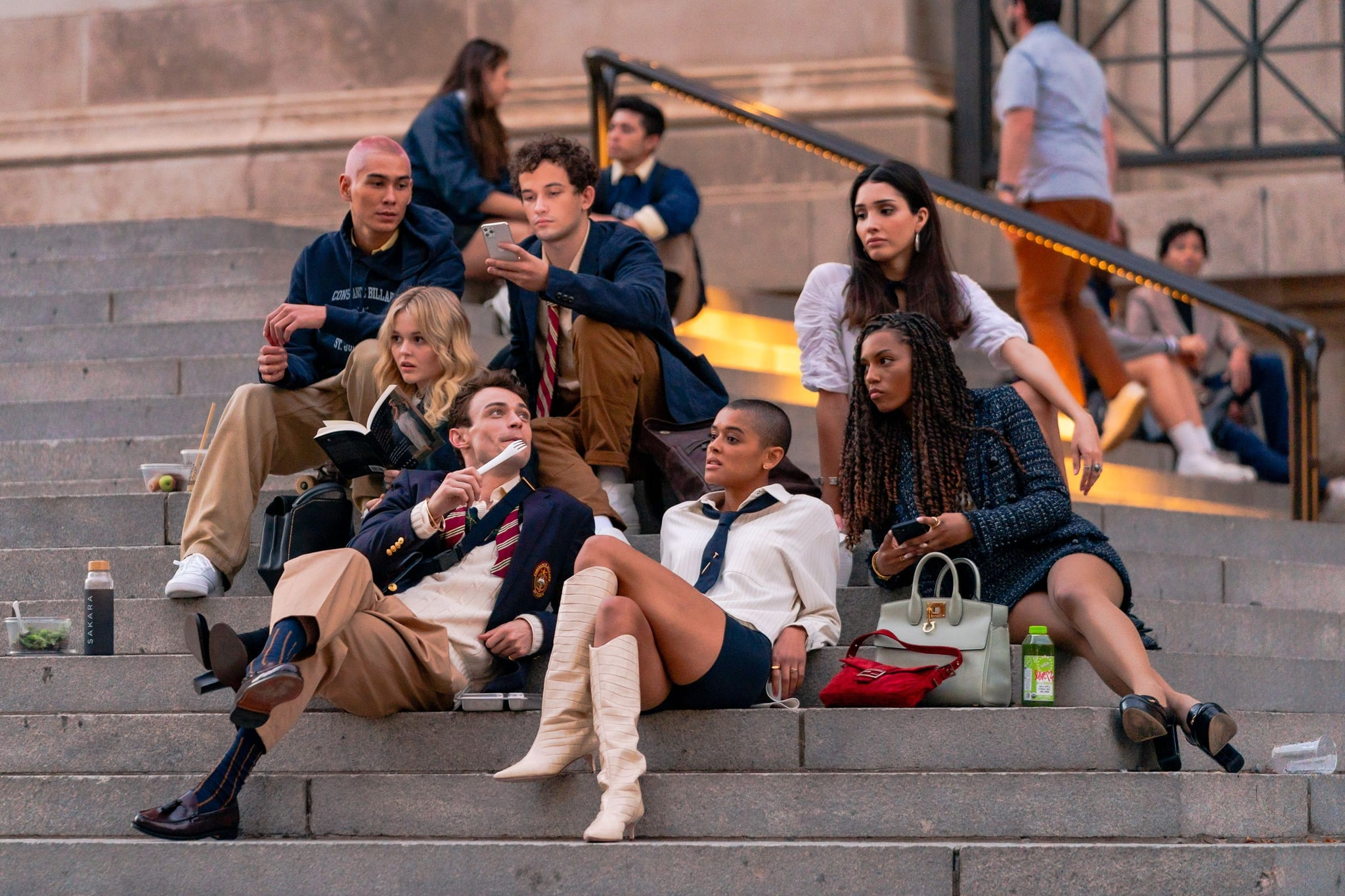 Here's Your New Gossip Girl Cast on the Iconic Steps of the Met Museum