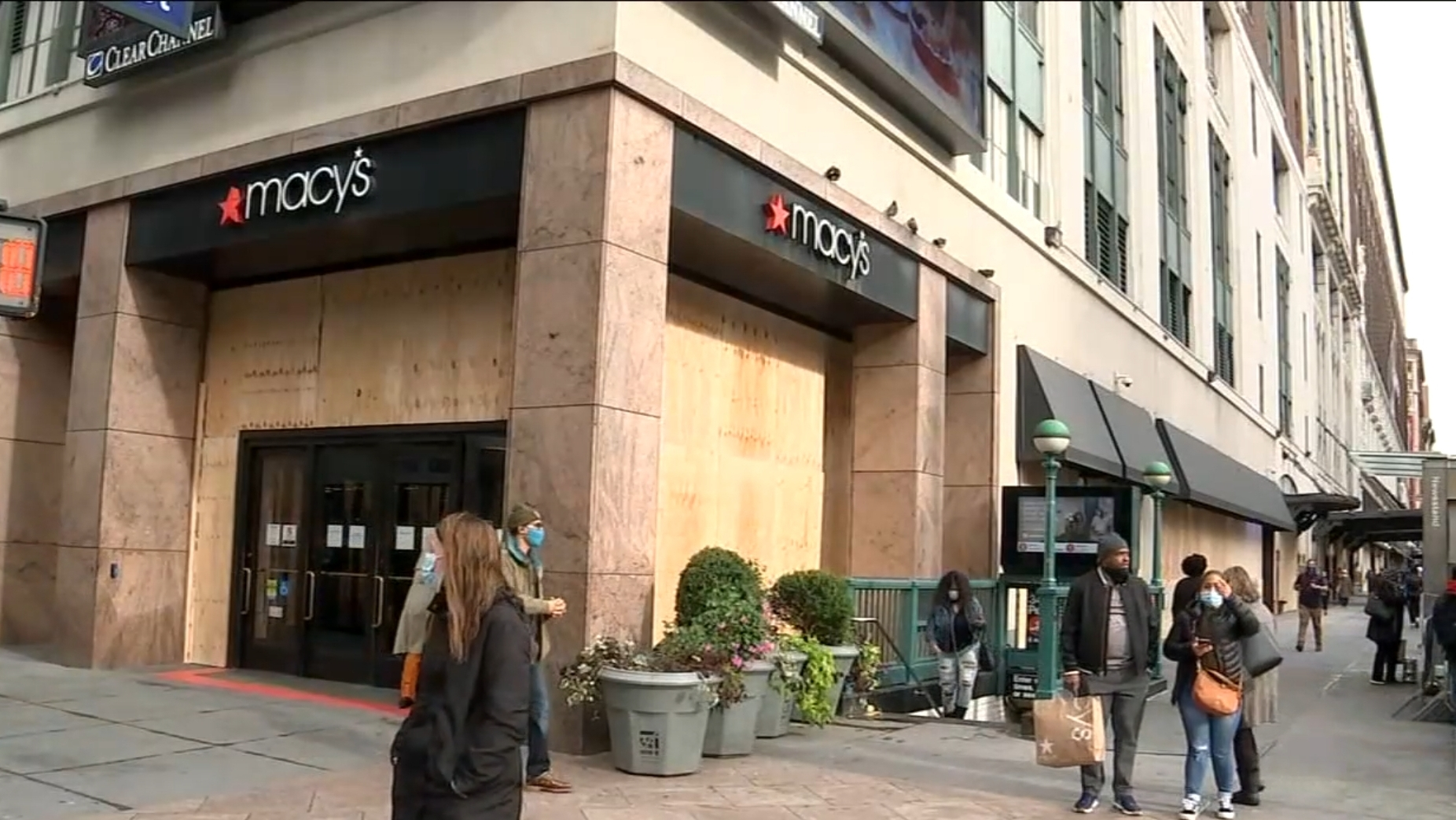 Macy's Boards it's windows ahead of election possible civil unrest
