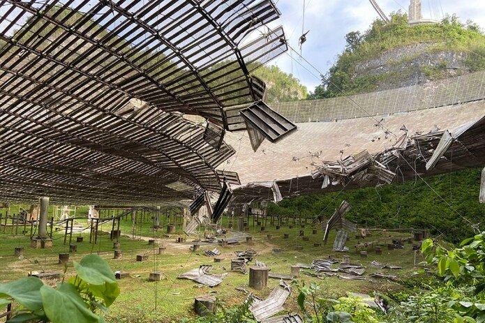The Iconic Arecibo Radio Telescope collapse