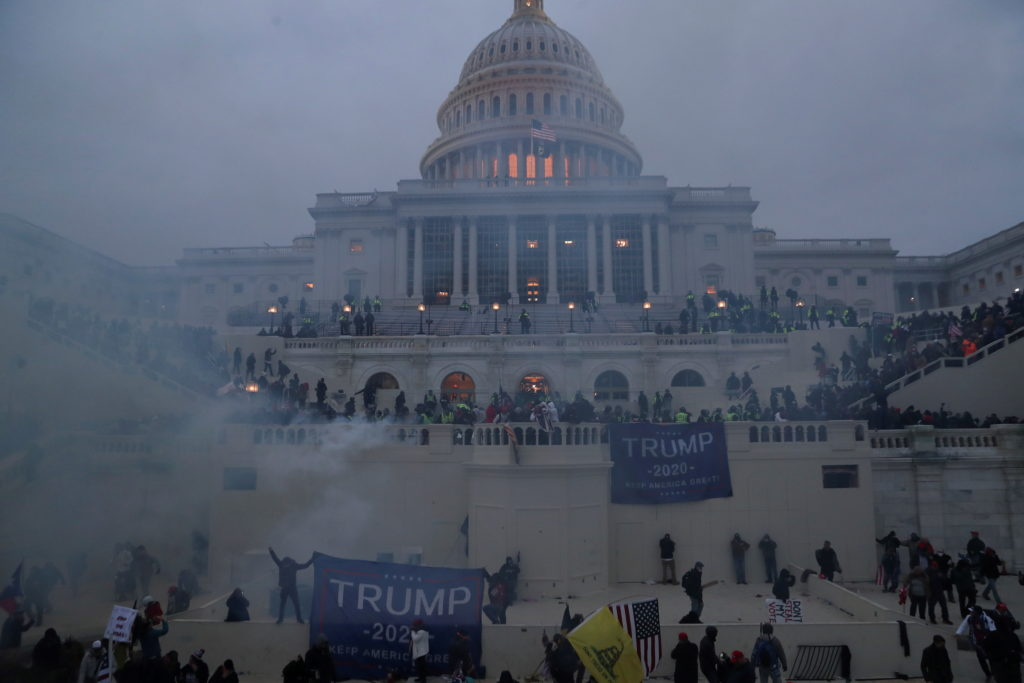 Trump motivated domestic terrorists Military woman and 3 others dead during attack of the U.S. Capitol