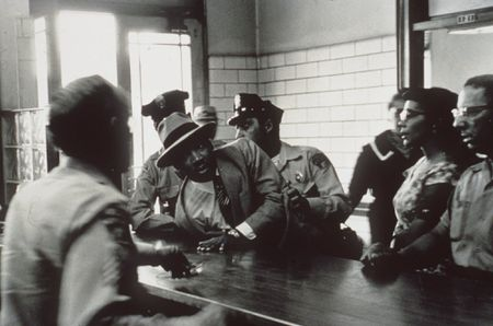 Dr. Martin Luther King Jr. arrested in Montgomery, Alabama.