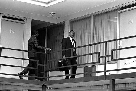 Dr. Martin Luther King Jr. the day before he was shot in April 3, 1968.