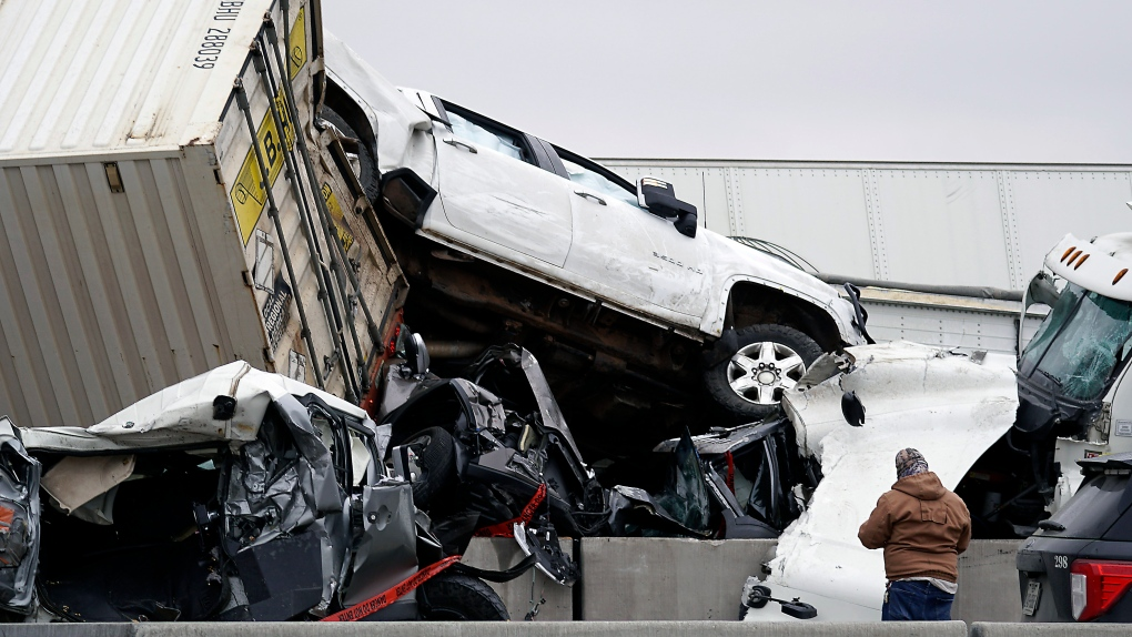 At least 5 dead in 70-vehicle wreck due to weather in Fort Worth, Texas, police say