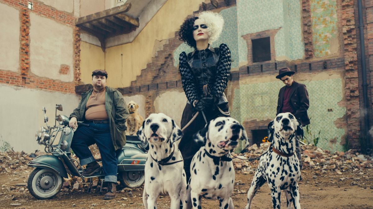 Cruella is here! The first poster for the live-action Disney film makes its debut as Emma Stone is seen in character as the villainous Cruella de Vil