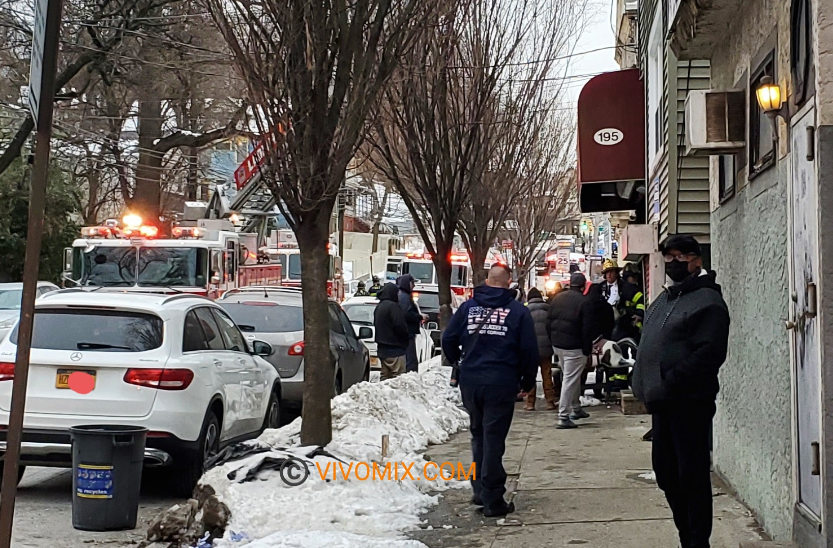Staten Island fire response in Victory Boulevard