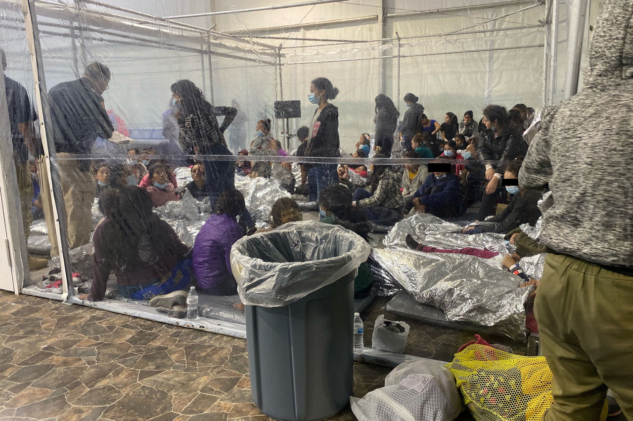 A sobering look inside a Customs and Border Protection tent city in Texas