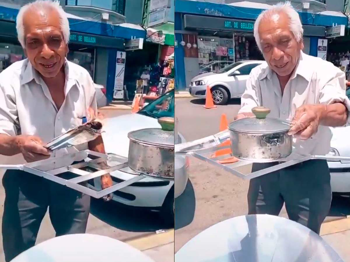 Elderly Mexican causes a furor in the network by inventing a solar stove