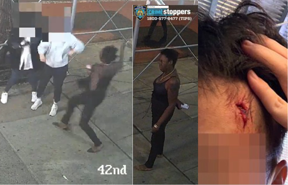 Black woman attacks two Asian women with a hammer
