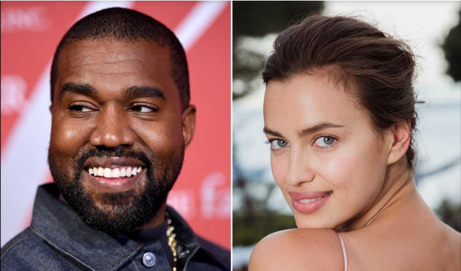 Kanye West seen with Irina Shayk in France
