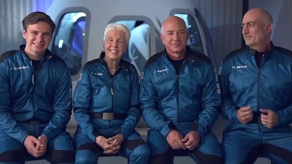 Blue Origin first civilian flight with Jeff Bezos