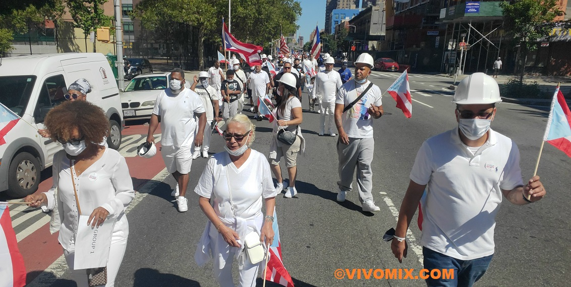 Four years since Hurricane Maria, memorial with the Silent Procession NYC4PR